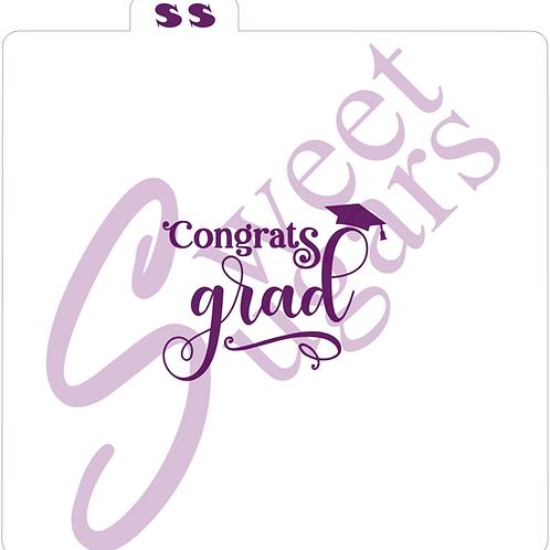 Congrats Grad Silkscreen Stencil