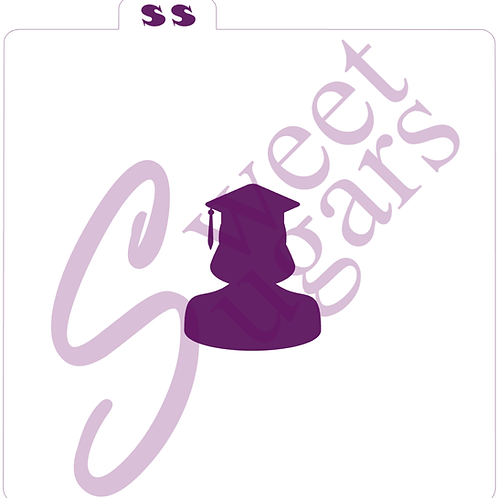 Female Graduate Silhouette Silkscreen Stencil