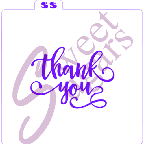 Thank You Silkscreen Stencil