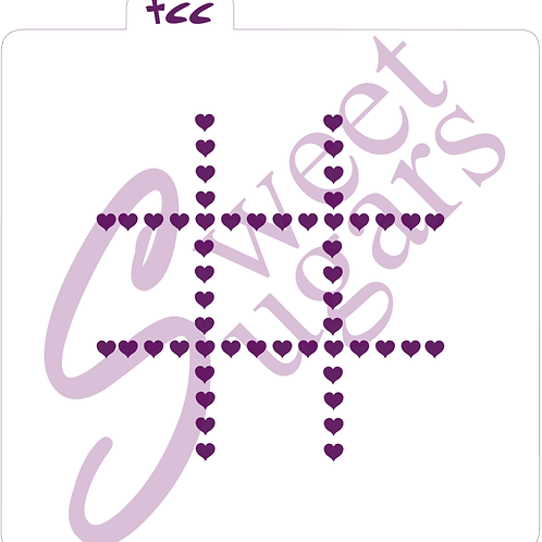 Heart Tic Tac Toe Stencil - Traditional or Silkscreen