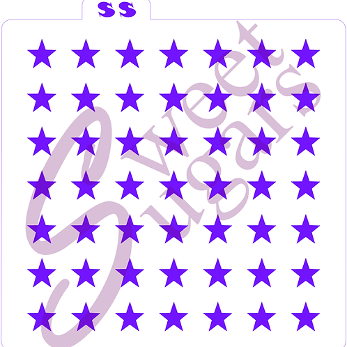 "Stars Stencil - Large 1/2"", Straight, Traditional or Silkscreen"