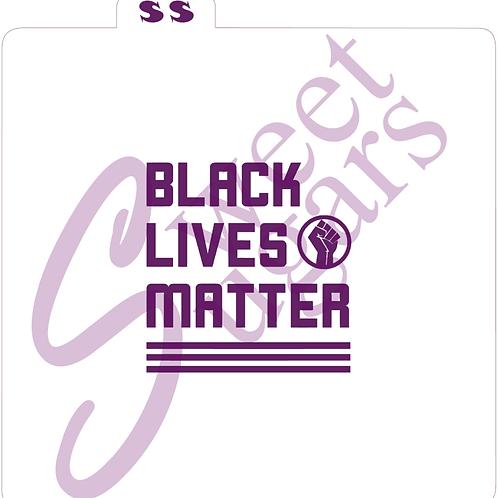 Black Lives Matter with Raised Fist Logo Silkscreen Stencil