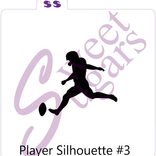 Football Player #3 Silhouette Silkscreen Stencil