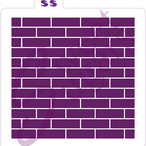 (WS) Brick Texture Background Stencil - Traditional or Silkscreen