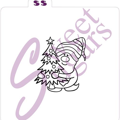 Gnome with Tree PYO Silkscreen Stencil