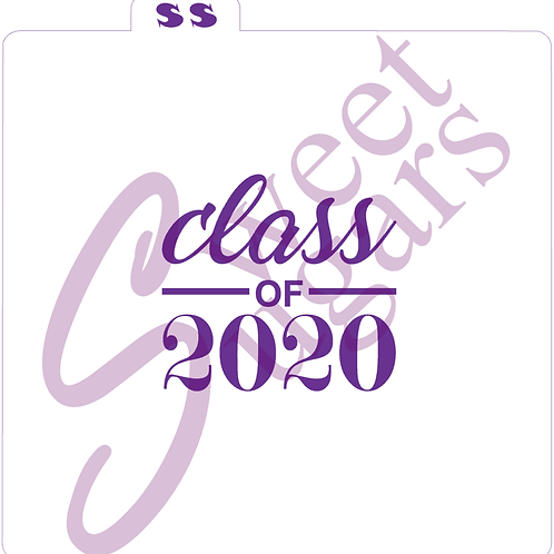Class of 2020 Silkscreen Stencil (script)