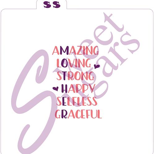 (WS) MOTHER Acrostic 2 Part Silkscreen Stencil