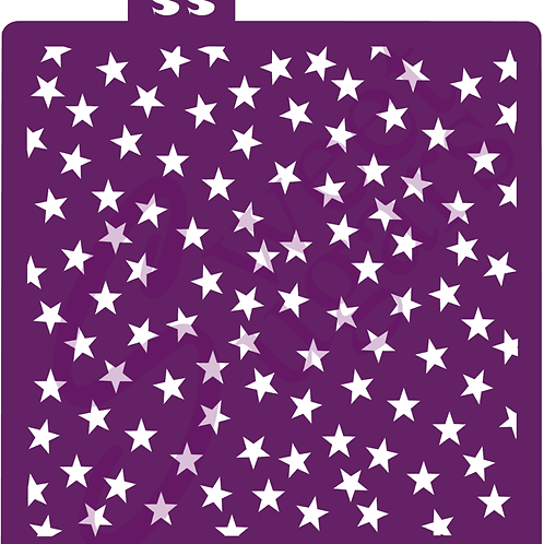 DOWNLOAD ONLY - Scattered Stars (same size) Background Stencil