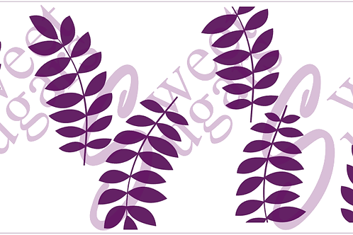 (WS) Cake - Medium Pointed Leaf Silkscreen Stencil - 2Lengths Available