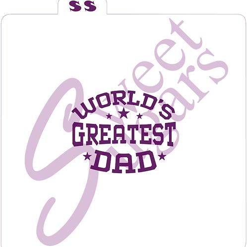 (WS) World's Greatest Dad Silkscreen Stencil