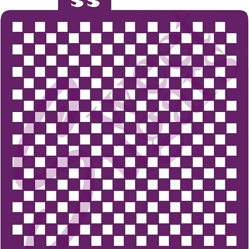 DOWNLOAD ONLY - Mini Checkerboard Background Stencil
