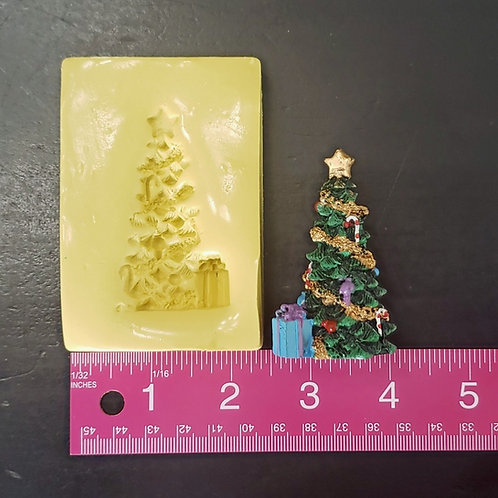 Christmas Tree with Present Mold - For Fondant, Chocolate, and Clay