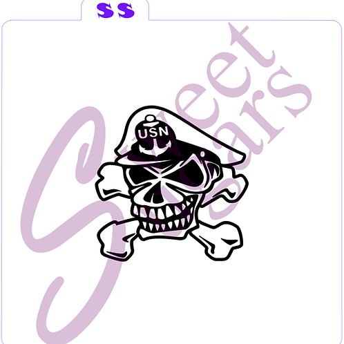 Navy Chief Skull Silkscreen Stencil