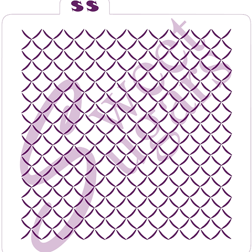Tight Basketweave or Net Background (Shadow) Silkscreen Stencil