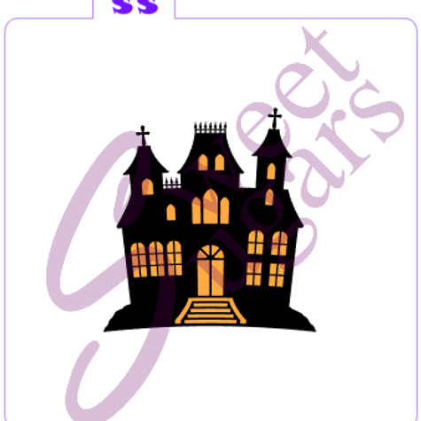 Haunted House 2 Piece Silkscreen Stencil