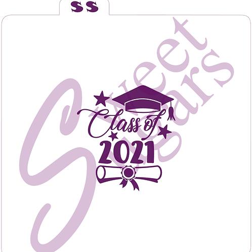 (WS) Class of 2021, Cap & Diploma Silkscreen Stencil
