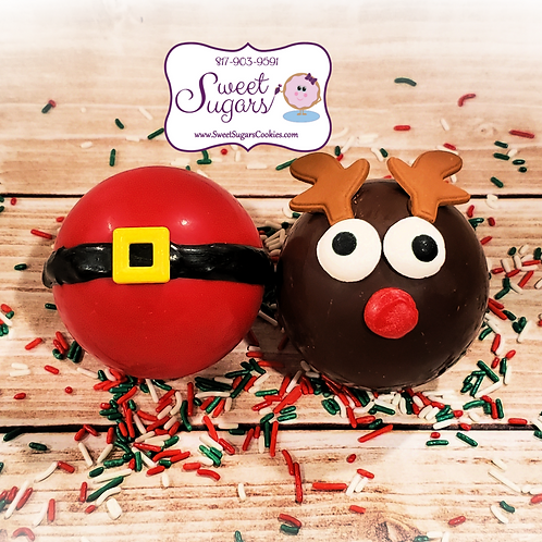 Santa Belly and/or Rudolph Hot Cocoa Bomb - Regular, Single or Set *NO SHIPPING*