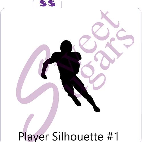 Football Player #1 Silhouette Silkscreen Stencil
