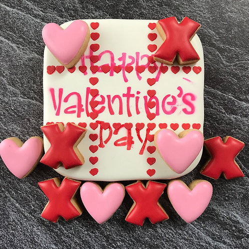 Happy Valentine's Day & Heart Tic Tac Toe Stencil Set- Traditional or Silkscreen