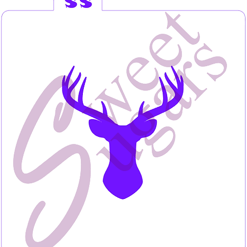 Deer Head Stencil - Traditional or Silkscreen