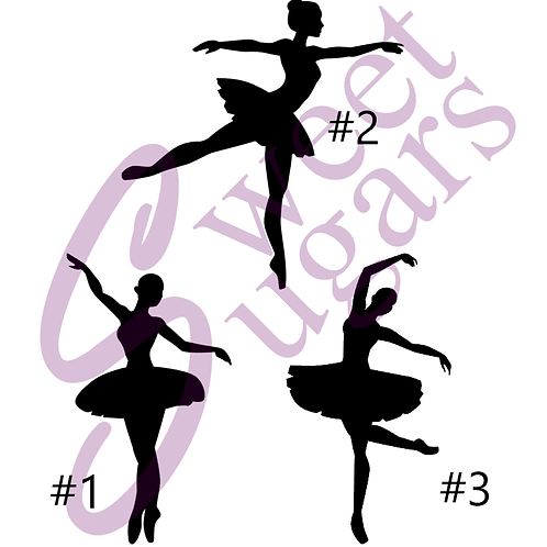 Ballet Dancer Silhouette Silkscreen Stencil 3 pk. Bundle (Save $3)