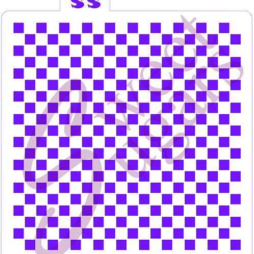 Mini Checkerboard Background Stencil- Traditional or Silkscreen