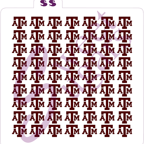 A&M Background Repeating Stencil