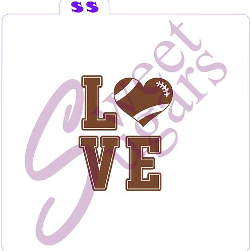 "(WS) Football - ""LOVE"" Silkscreen Stencil"