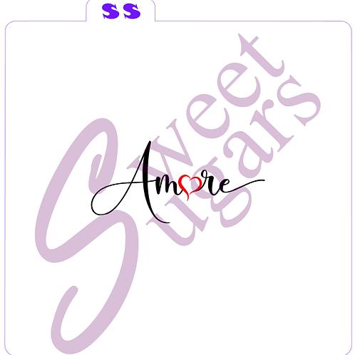 Amore 2 part Silkscreen Stencil