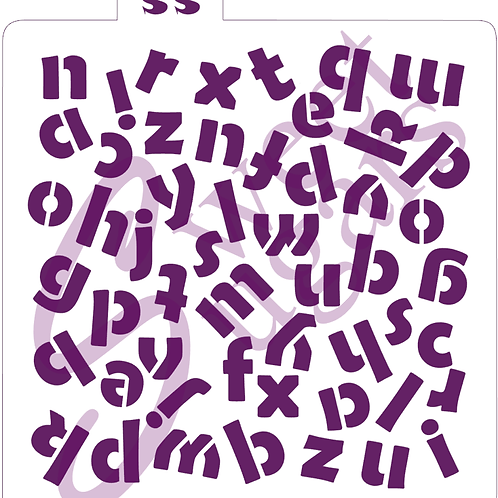 Chunky Alphabet Background Stencil - Traditional or Silkscreen