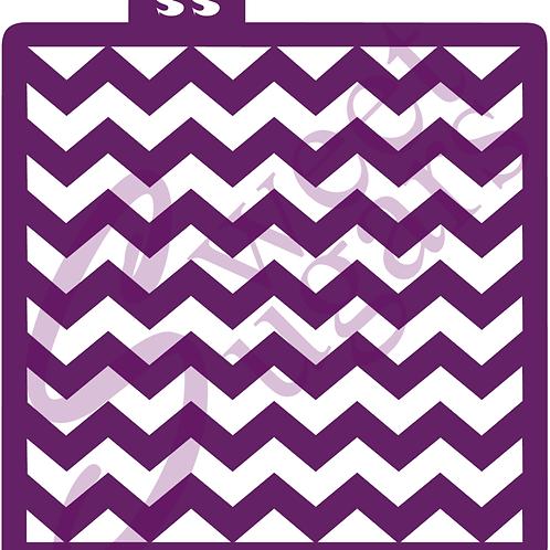 DOWNLOAD ONLY - Chevron Background Stencil