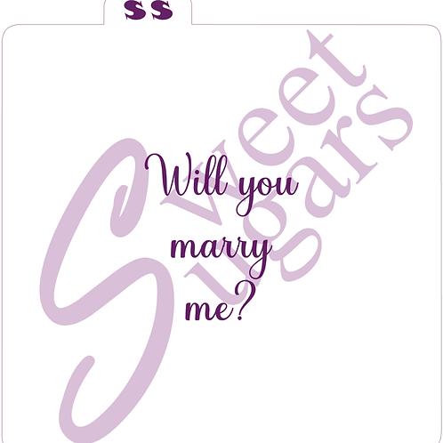 Will you marry me? Silkscreen Stencil