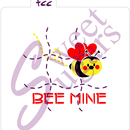 Bee Mine Tic Tac Toe 4 piece Stencil Set - Traditional or Silkscreen