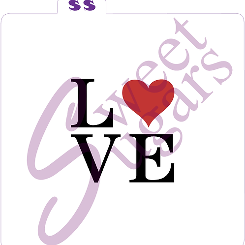 LOVE Square 2 Part Stencil - Traditional or Silkscreen