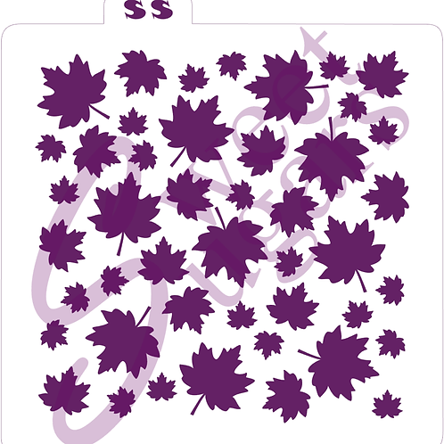 Maple Leaf Background Stencil - Silkscreen or Traditional