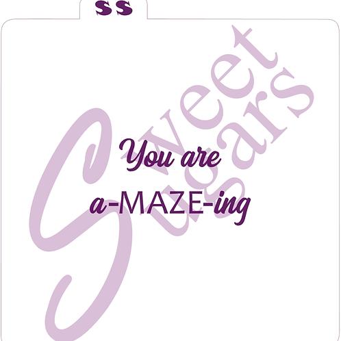 You are a-MAZE-ing Silkscreen Stencil