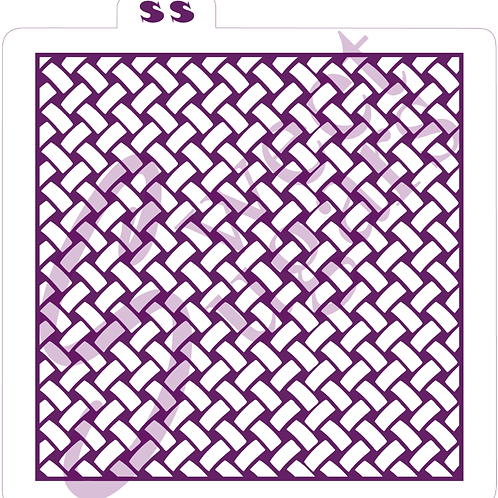 Open Basketweave Background (Shadow) Silkscreen Stencil