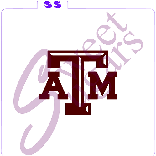 Texas A and M Silkscreen Stencil