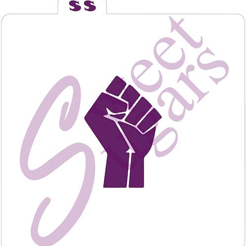 Black Lives Matter - Raised Fist Logo Stencil - Traditional or Silkscreen