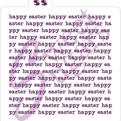 Happy Easter Typewriter Background Silkscreen Stencil