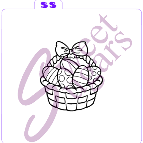Easter Basket with Eggs Paint Your Own (PYO) Silkscreen Stencil