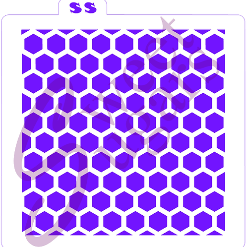 (WS) Honeycomb Background Stencil - Traditional or Silkscreen