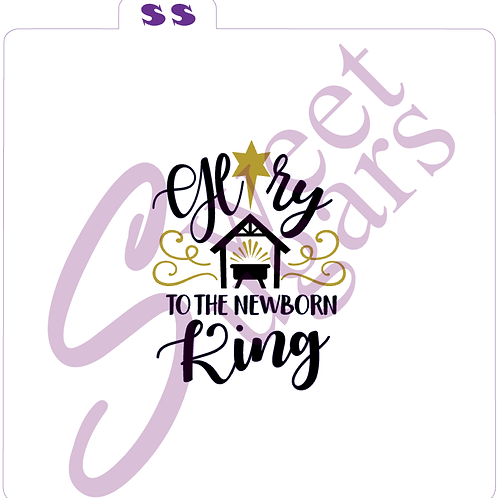 Glory to the Newborn King 2 Piece Stencil Set