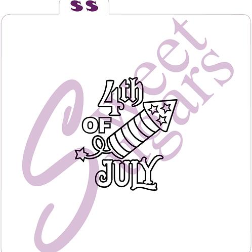 (WS) PYO 4th of July Firework Silkscreen Stencil