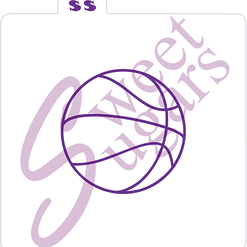Basketball Seams Silkscreen Stencil - Multiple Sizes Available