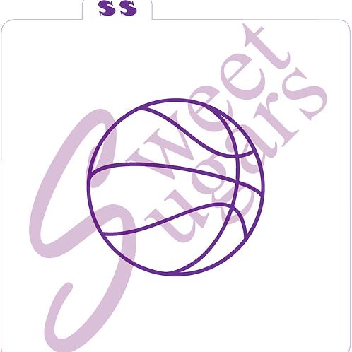 """Basketball Seams Silkscreen Stencil - 3"""""""