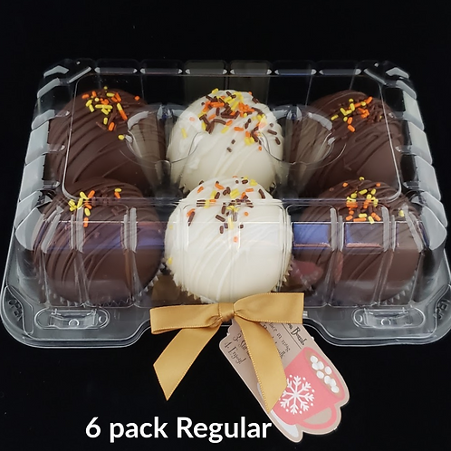 6 Pack REGULAR CLASSIC Hot Cocoa Bombs (save $6) *NO SHIPPING*