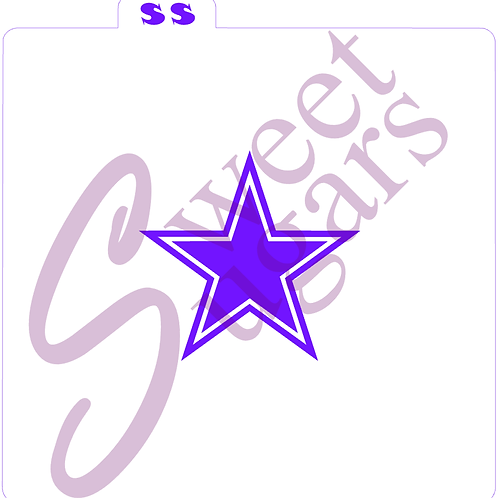 (WS) Double Star Stencil - Traditional or Silkscreen