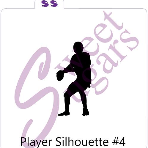 Football - Quarterback Silhouette Silkscreen Stencil