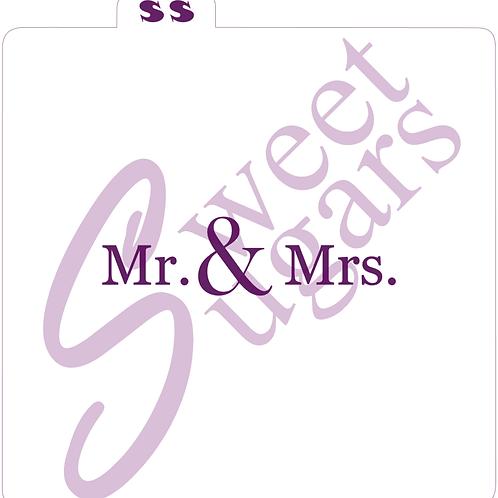 (WS) Mr. & Mrs. Formal Silkscreen Stencil